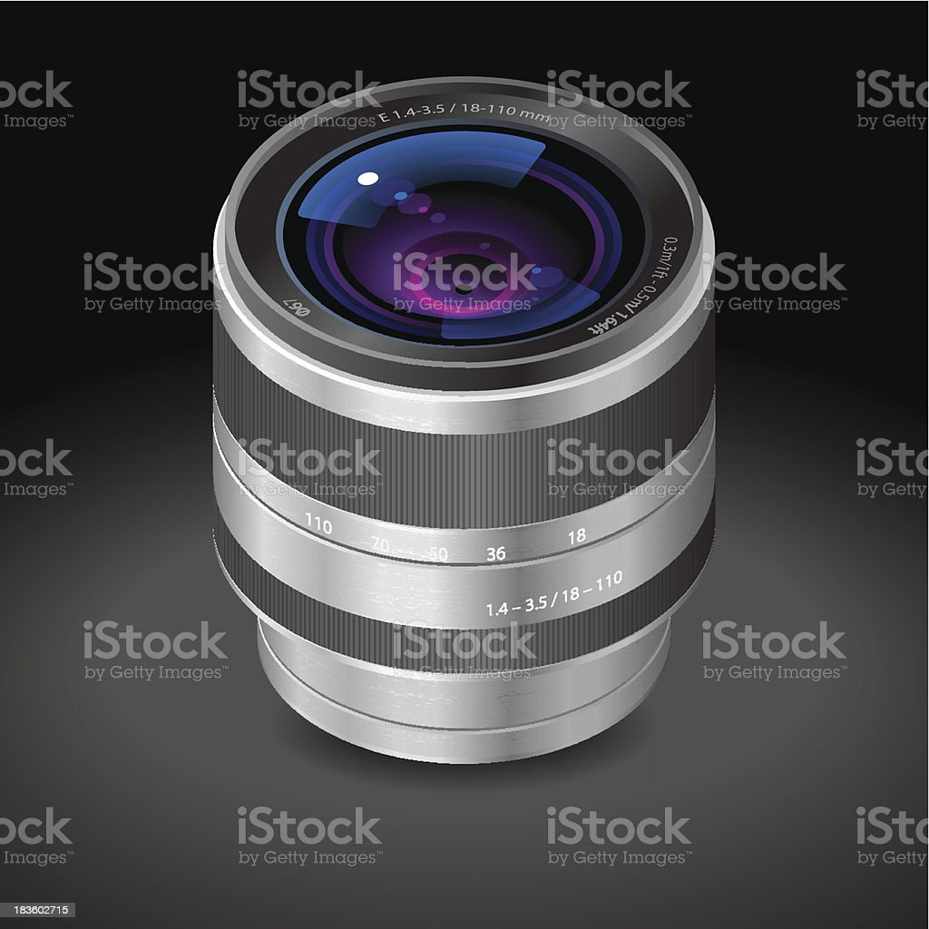 SLR camera lens royalty-free slr camera lens stock vector art & more images of brushed metal