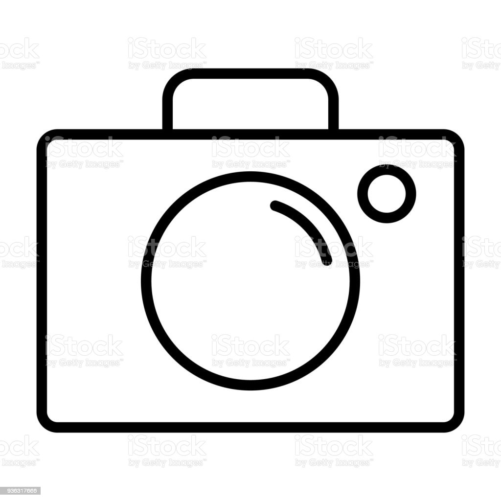 Camera line icon vector simple minimal 96x96 pictogram for Camera minimal