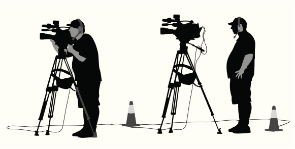 Camera Man Vector Silhouette