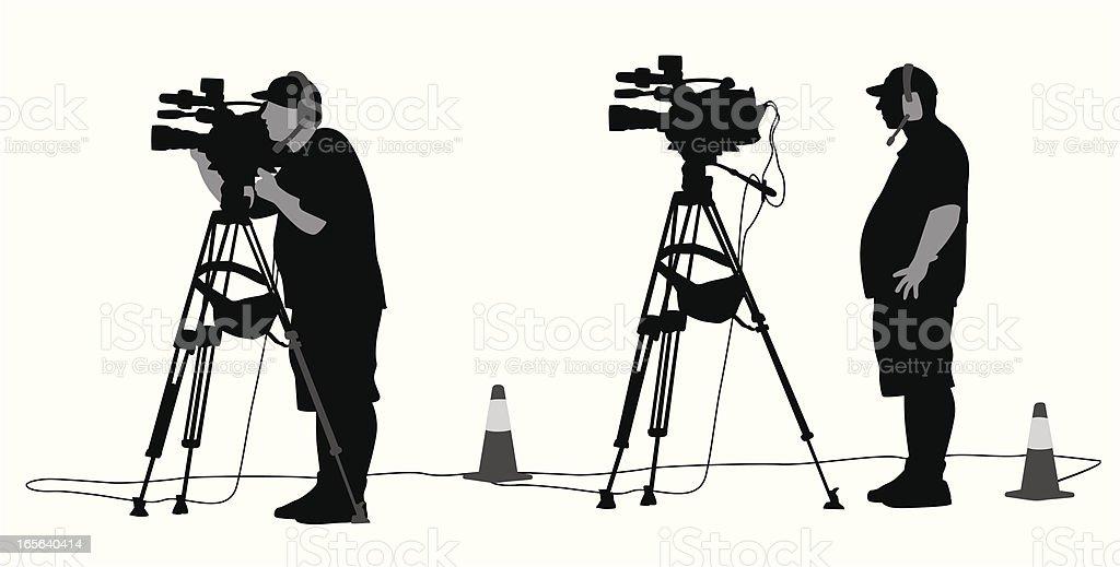 Camera Man Vector Silhouette vector art illustration