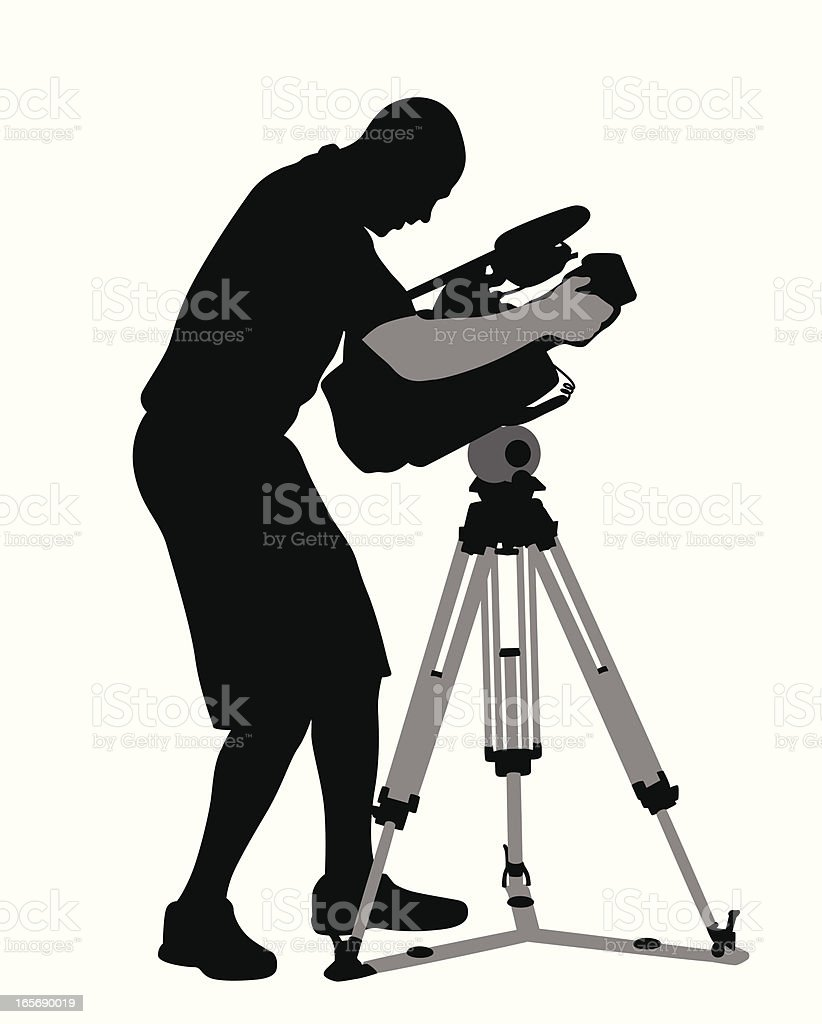 Camera Man Vector Silhouette royalty-free camera man vector silhouette stock vector art & more images of adult