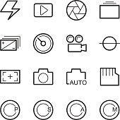 camera menu function icons