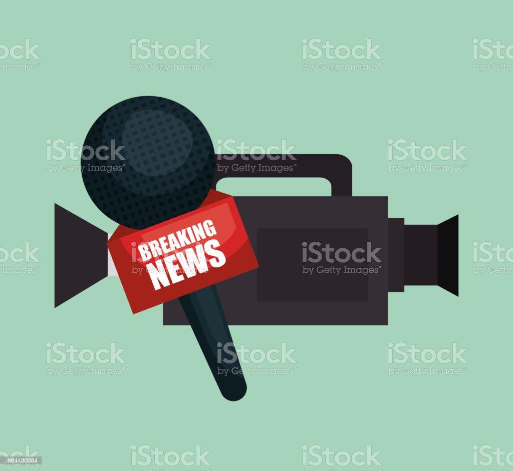 camera microphone equipment news job graphic