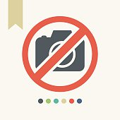 Camera not allowed sign,vector illustration.