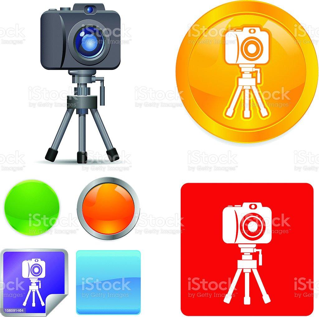 Camera on Tripod Vector Icons royalty-free stock vector art