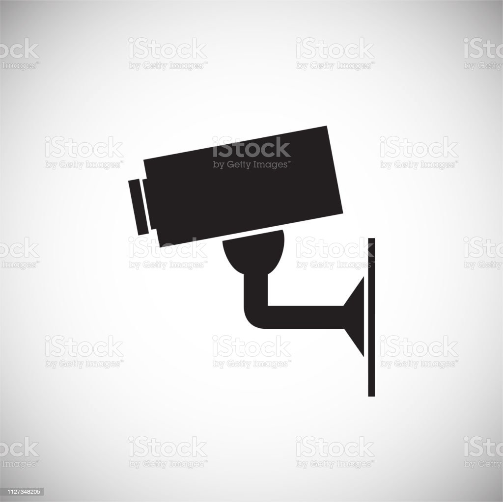 CCTV camera on white background for graphic and web design, Modern simple vector sign. Internet concept. Trendy symbol for website design web button or mobile app.