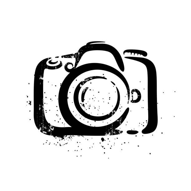 Kamera auf weißem Hintergrund – Vektorgrafik