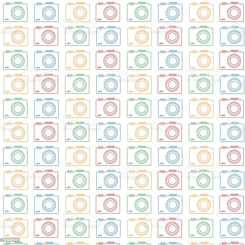 Camera Pattern Background Royalty Free Stock Vector Art