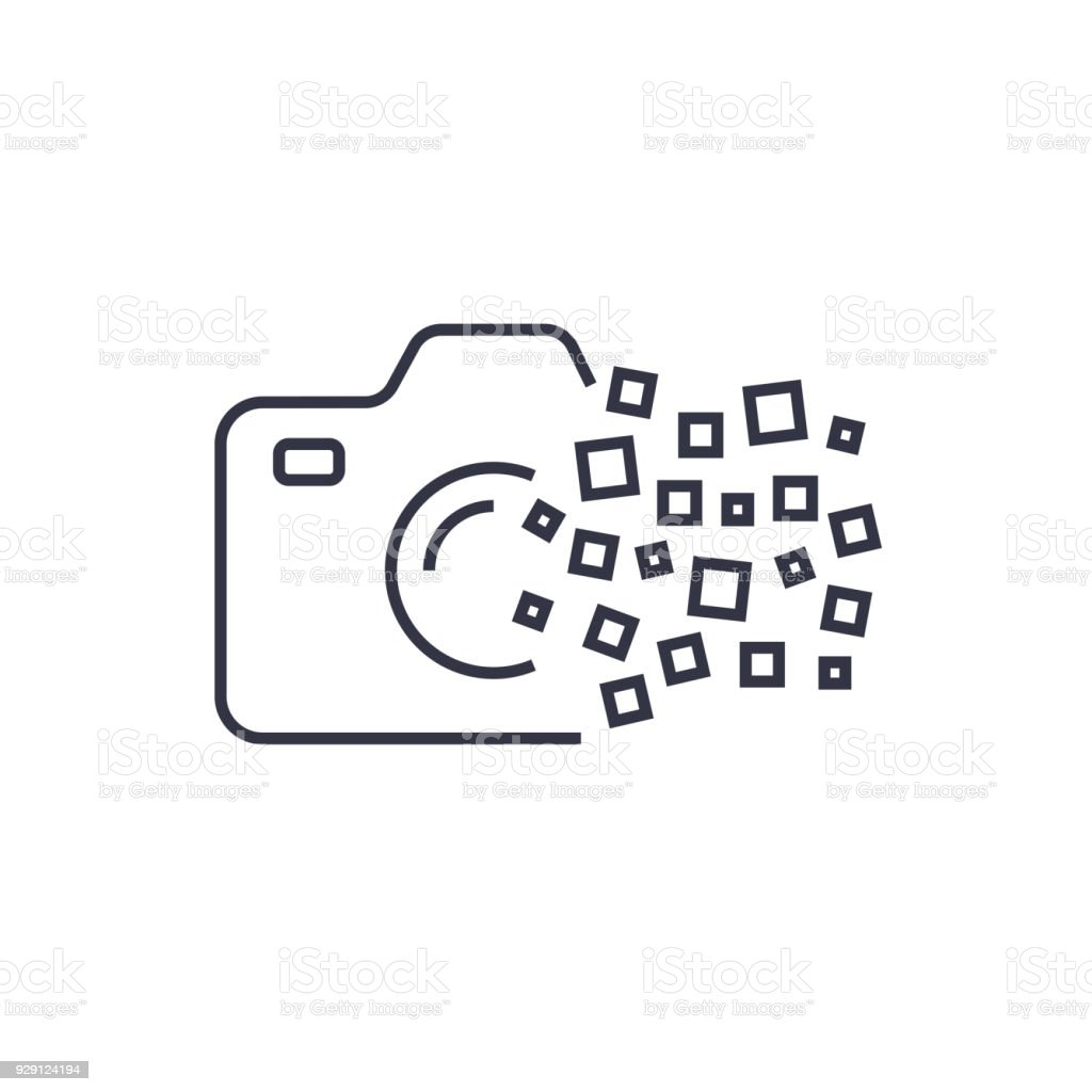 Kamera Fotografie Logo Symbol Vorlage Digitalkamerakonzept Stock ...
