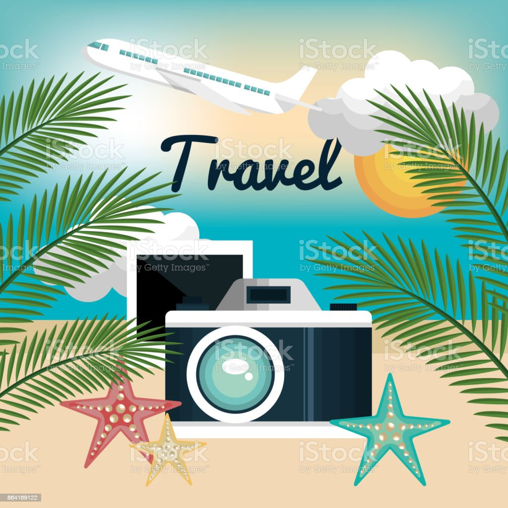 camera photography travel vacation design royalty-free camera photography travel vacation design stock vector art & more images of airplane