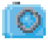 istock Camera Photos Pixel 8 Bit Video Game Art Icon 1265964675