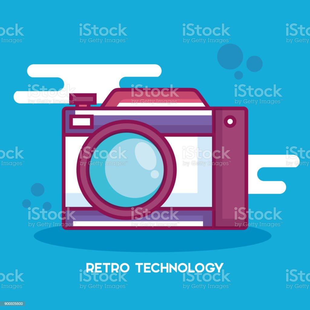 Kamerasymbol Retro-Technologie – Vektorgrafik