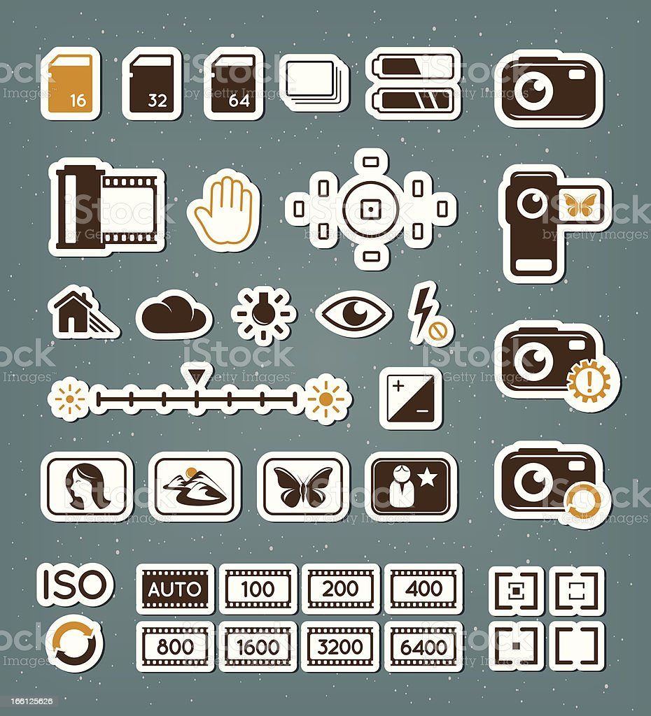 Camera screen icons set royalty-free camera screen icons set stock vector art & more images of aperture