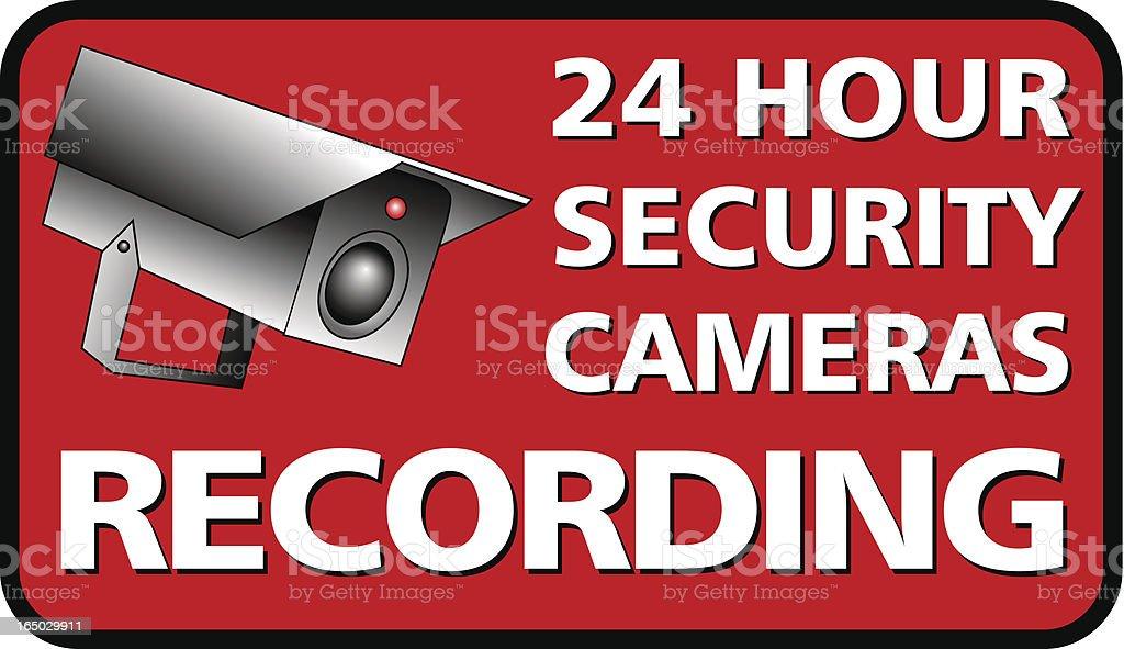 Camera Security royalty-free stock vector art