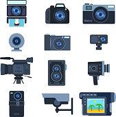 Camera set vector.