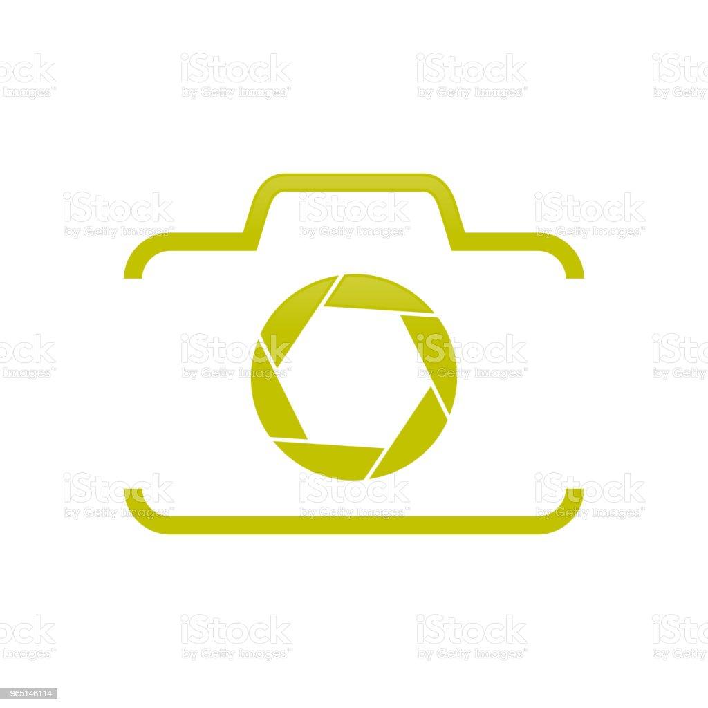Camera Shape Half with Shutter Symbol Design camera shape half with shutter symbol design - stockowe grafiki wektorowe i więcej obrazów abstrakcja royalty-free