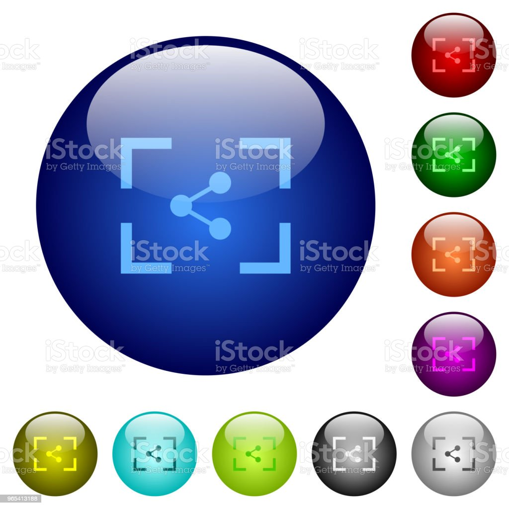 Camera share image color glass buttons royalty-free camera share image color glass buttons stock vector art & more images of art