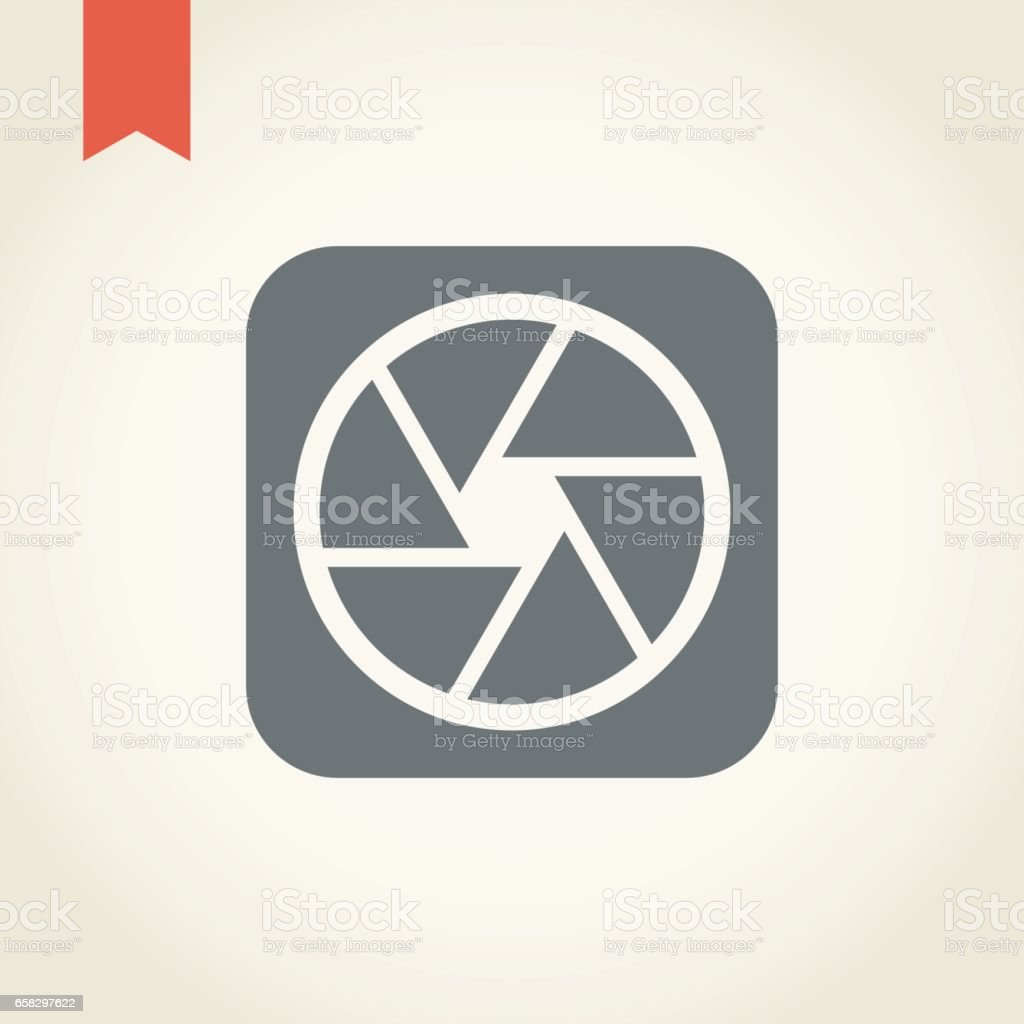 Camera Shutter icon vector art illustration