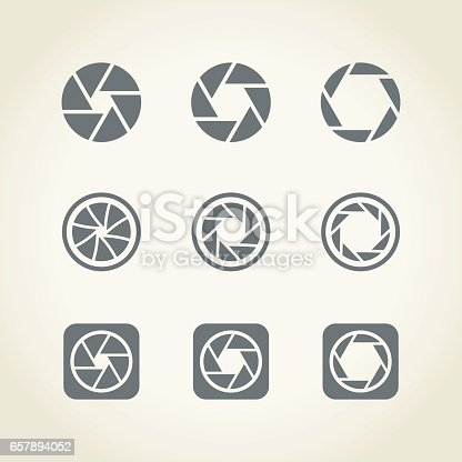Camera shutter icons,vector illustration.