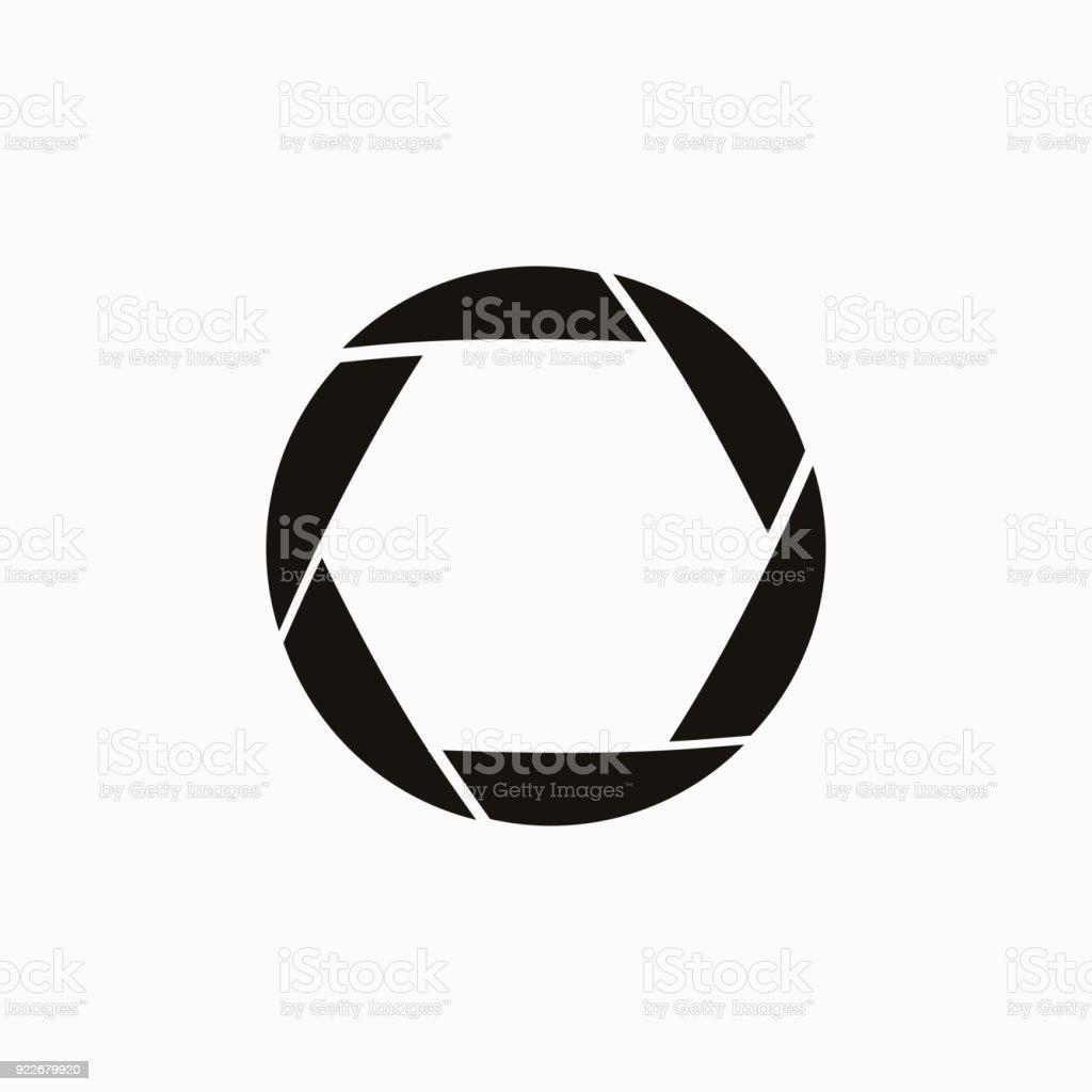 Camera shutter vector  icon. vector art illustration
