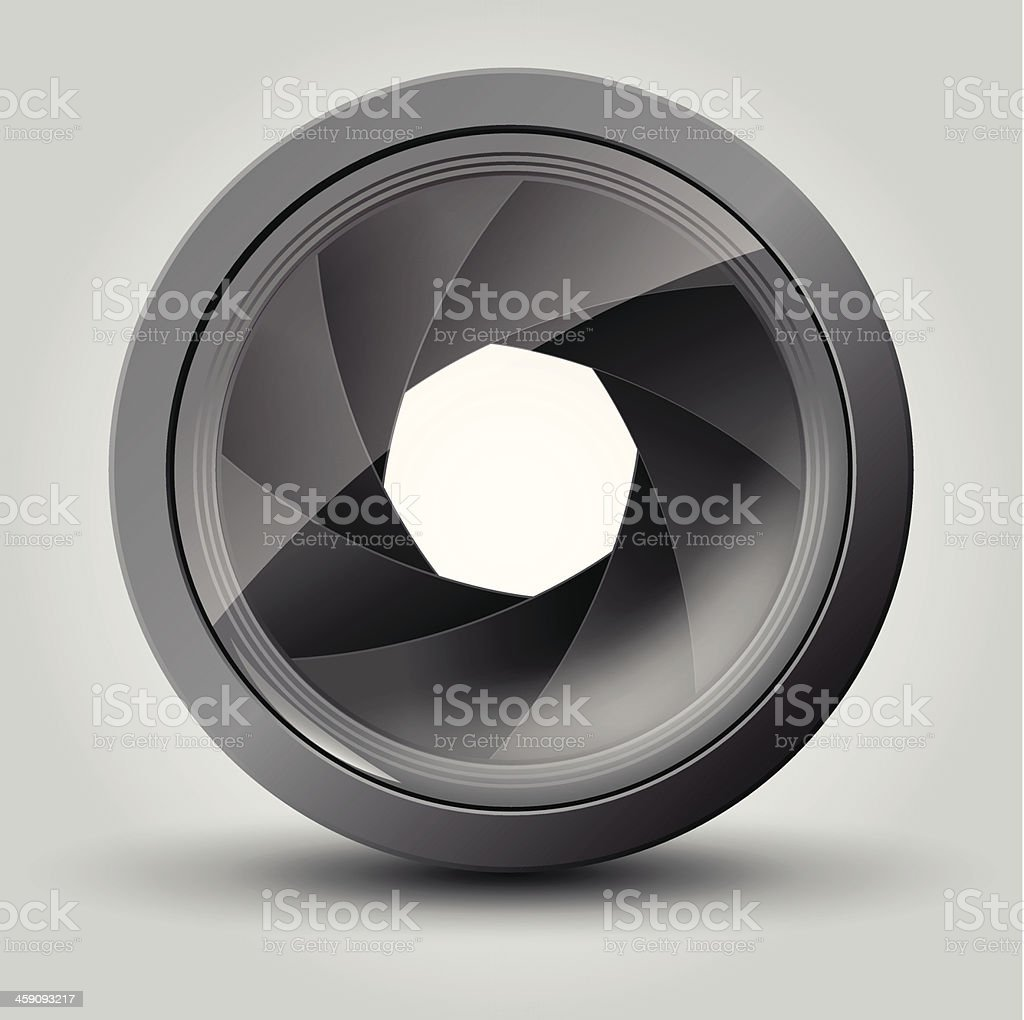 Camera shutter royalty-free stock vector art