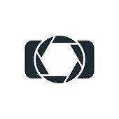 Camera, simple concept logo