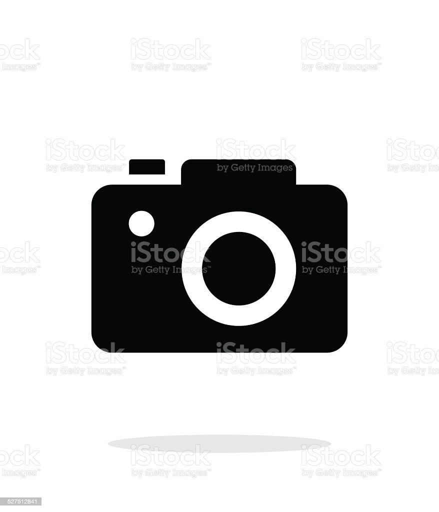 SLR camera simple icon on white background. vector art illustration
