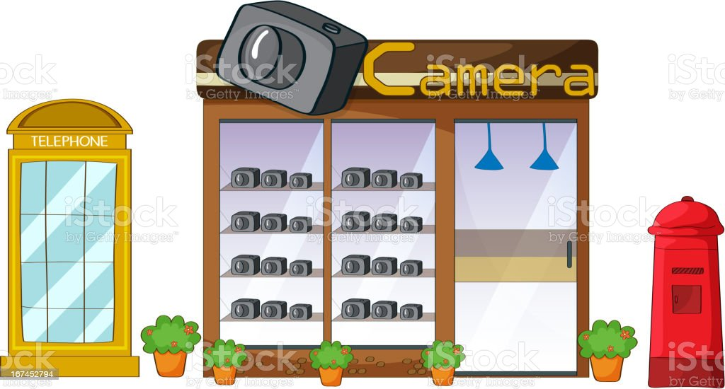 Camera store, mailbox and telephone royalty-free camera store mailbox and telephone stock vector art & more images of alphabet