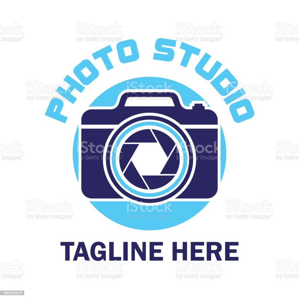 camera studio, shutter, camera store icon with text space for your slogan / tagline, vector illustration vector art illustration