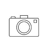 istock Camera  Summer icon Thin Line Style 1251131605