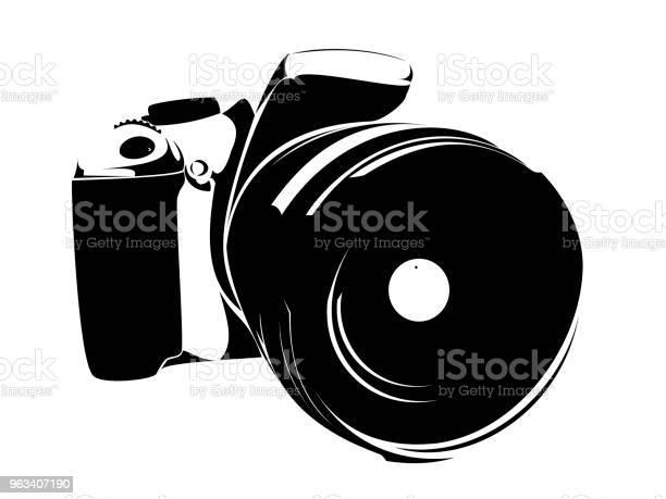 Lustrzanka Symbol Czarny Na Białym Tle - Stockowe grafiki wektorowe i więcej obrazów Aparat fotograficzny