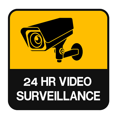 CCTV Camera Symbol Sign Isolate On White Background Label ,Vector