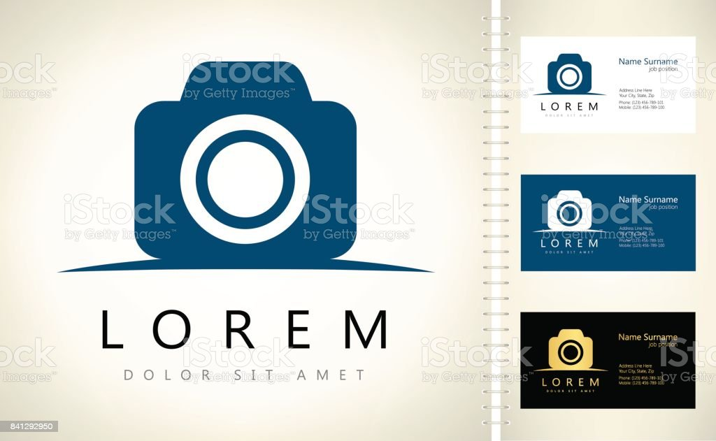 Camera Symbol Stock Vector Art More Images Of Business Card