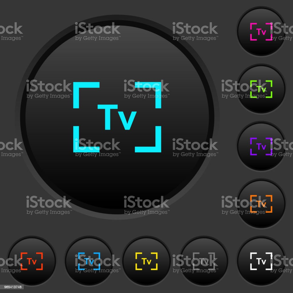 Camera time value mode dark push buttons with color icons camera time value mode dark push buttons with color icons - stockowe grafiki wektorowe i więcej obrazów aparat cyfrowy royalty-free