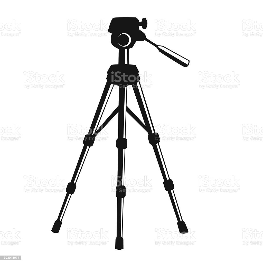Camera Tripod Stock Vector Art & More Images of Arts ...