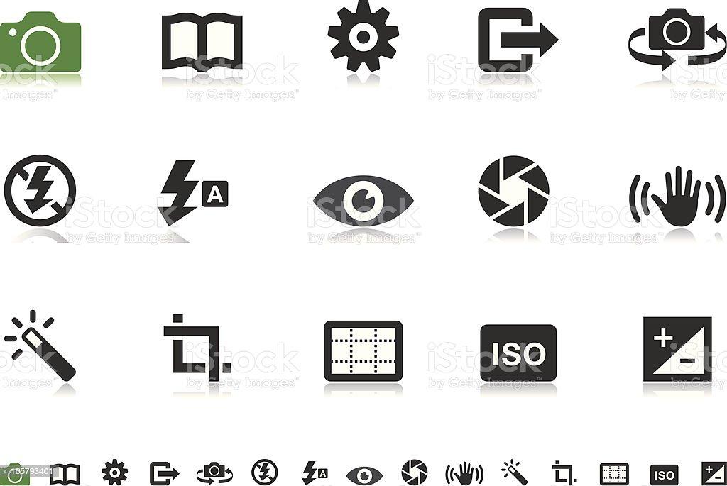 Camera UI icons | Pictoria series vector art illustration