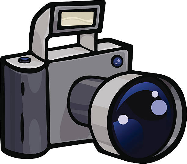 Camera vector art illustration
