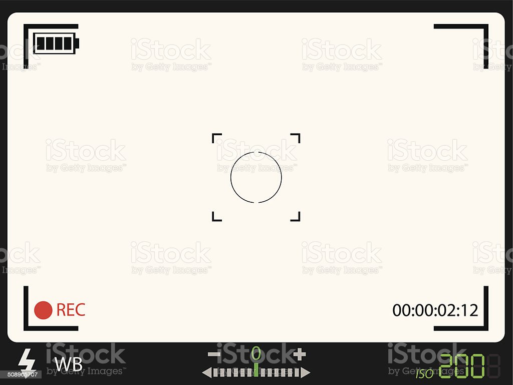 Camera viewfinder vector art illustration