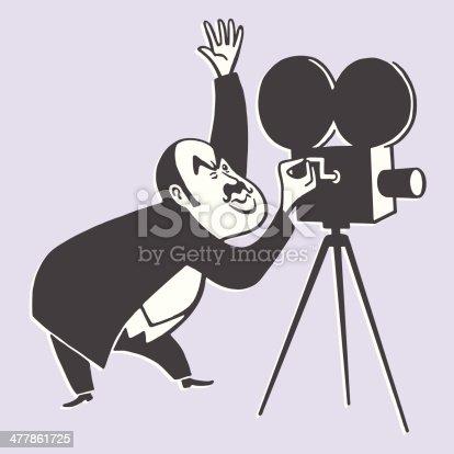 Cameraman and a Movie Camera
