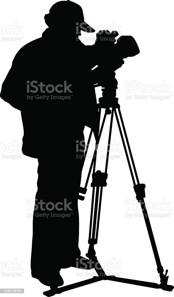 Cameraman vector art illustration