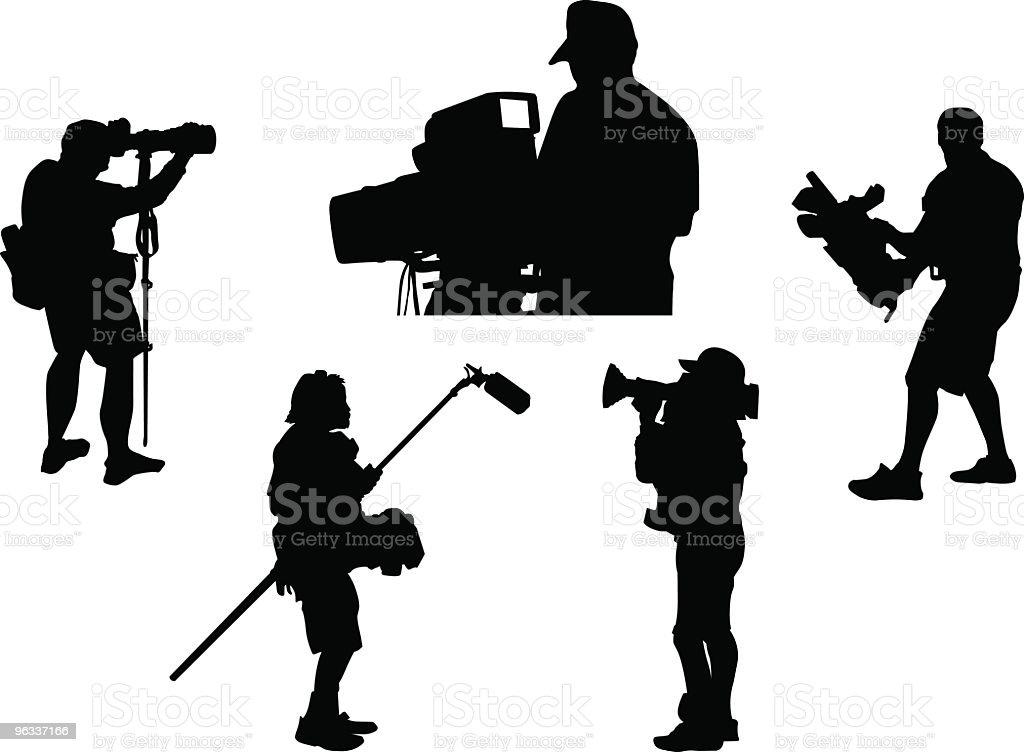 Cameramen ~ Vector vector art illustration