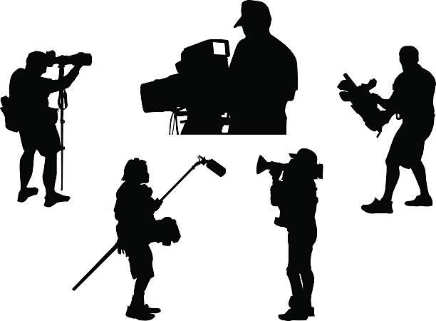 Cameramen ~ Wektor – artystyczna grafika wektorowa
