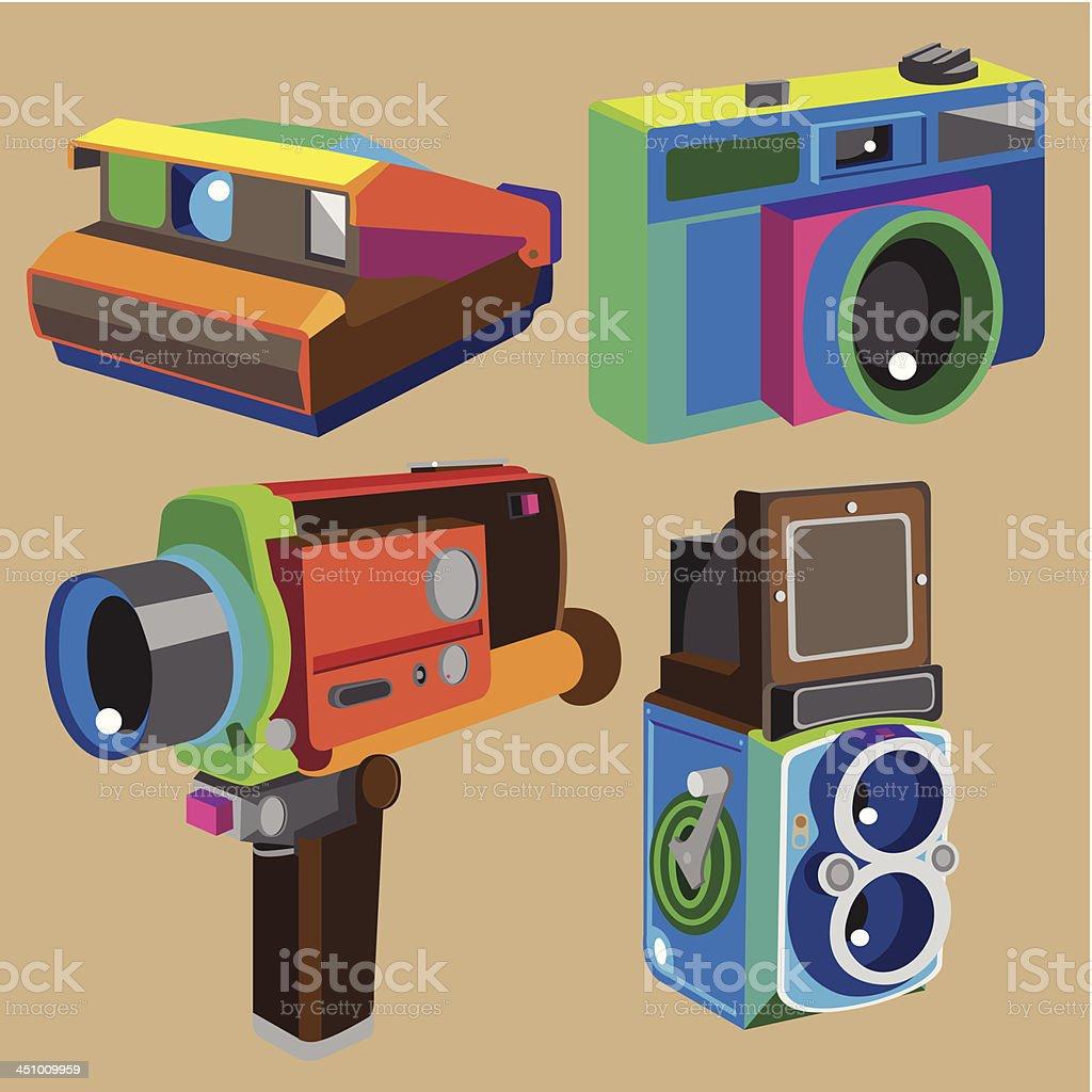 cameras royalty-free stock vector art