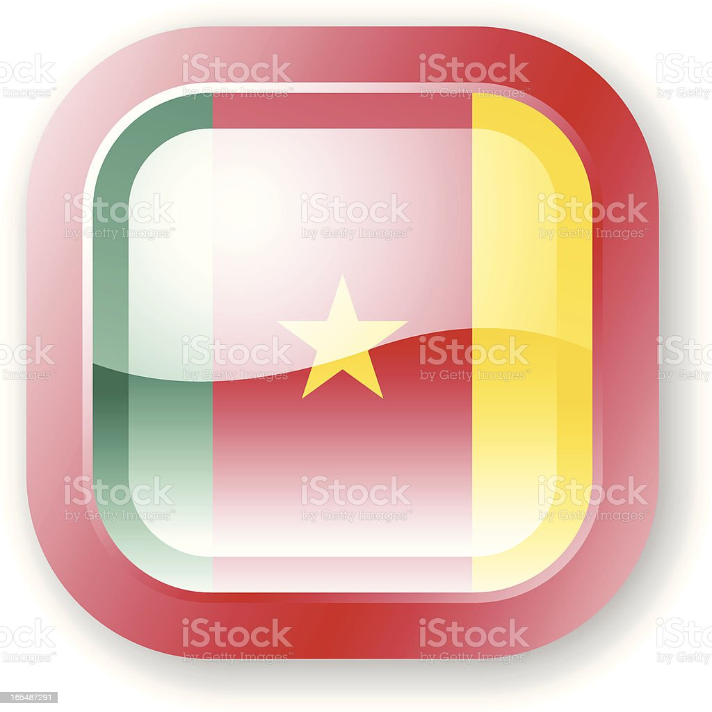 Cameroon Flag Icon royalty-free cameroon flag icon stock vector art & more images of africa