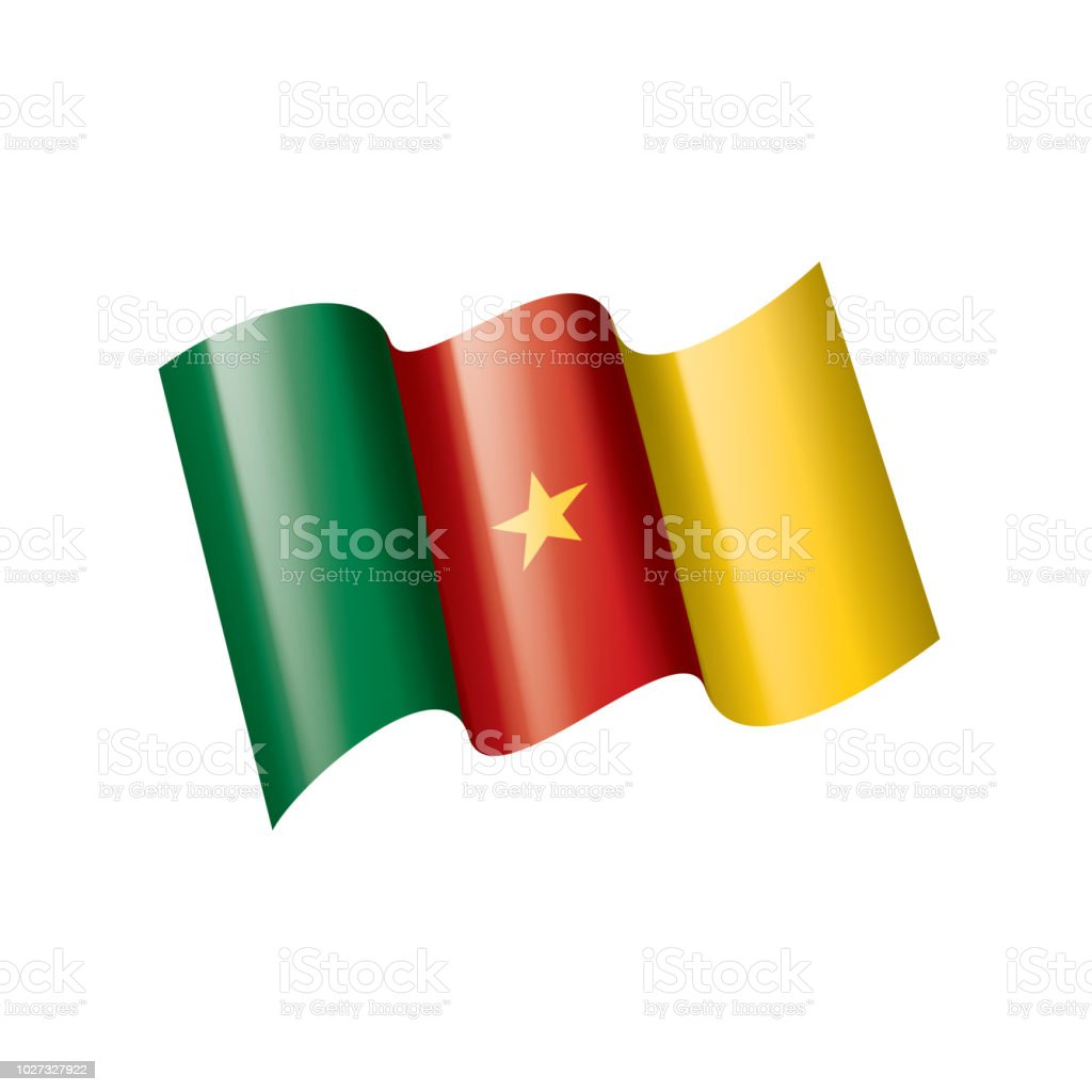 Cameroon flag vector illustration on a white background royalty free cameroon flag vector illustration
