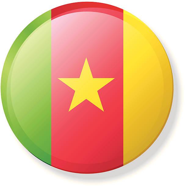 kamerun revers flagge - kamerun stock-grafiken, -clipart, -cartoons und -symbole