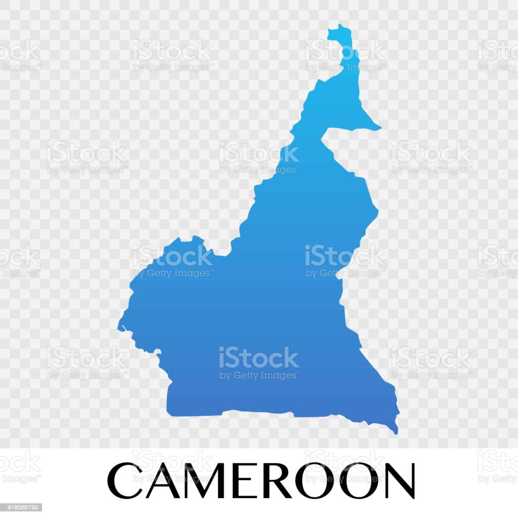 Cameroon Map In Africa Continent Illustration Design Stock Vector