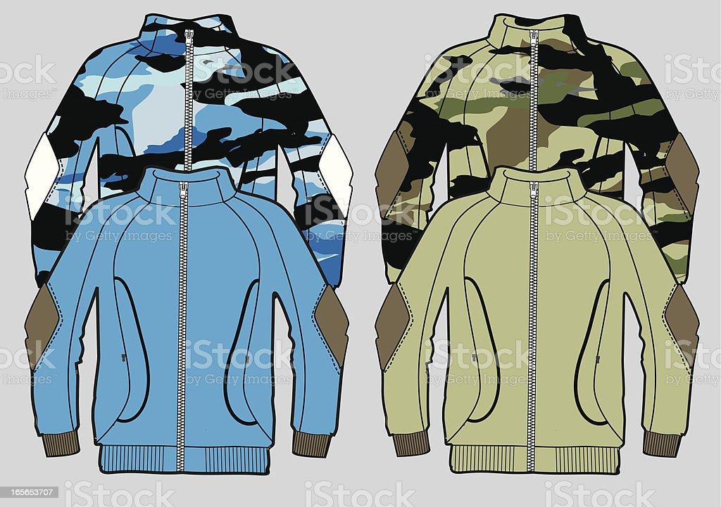 camo jacket royalty-free stock vector art