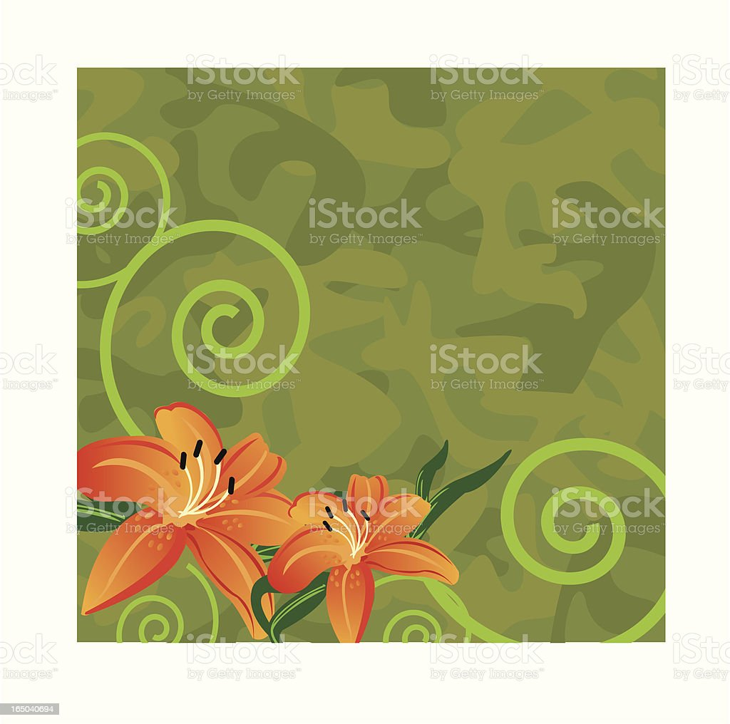 Camo Lilly royalty-free stock vector art