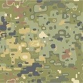 Camouflage pattern. Seamless vector illustration